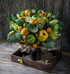 Fruit and veg arrangement