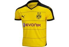 40252e972be Puma Kids Borussia Dortmund Home Jersey 2015-16 Youth Soccer