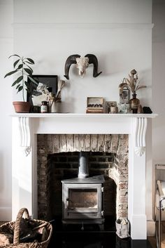 My Husband Loves Our Ugly Brick Fireplace | FIREPLACE MILLWORK | Pinterest  | Brick Fireplace, Fireplace Surrounds And Bricks