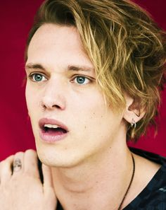 Jamie Campbell Bower mouth gaped open