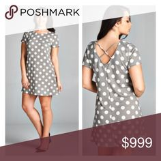 """(Plus) Polka dot dress Polka dot dress. Very stretchy and very TTS (I'm a 2x/16/18 and the 2x fit perfectly). Bust measurements are laying flat – they easily stretch well beyond that. 100% rayon.  1x: L  38"""" B 40"""" 2x: L 38"""" B 42"""" 3x: L 40"""" B 44"""" ⭐️This item is brand new without tags 💲Price is firm unless bundled ✅Bundle offers Availability: 1x•2x•3x • 2•2•1 Dresses"""