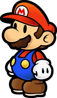 Nintendo's been re-using the same sprite for Paper Mario for 16 years Super Mario Tattoo, Super Mario Party, Mario Bros., Mario And Luigi, Mario Free, Super Mario Brothers, Super Mario Bros, Paper Mario, Disney Scrapbook