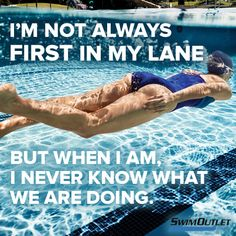it starts off like a motivational quote than falls into a funny swimmer problem quote