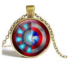 Iron Man Vs Captain America Civil War Pendant and Necklace. I want it!