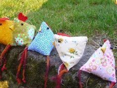 Dreieckshühner nähen - kostenlose Anleitung