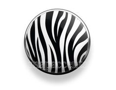 Pick your favorite color | Snap Jewelry Zebra Accent Interchangeable Button - Black