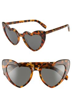 6167ea1fa76 Saint Laurent Loulou 54mm Heart Sunglasses available at  Nordstrom Heart  Shaped Frame