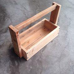 Handmade recycled pine wood tools box