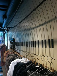 retail clothing rack at kits This is also a cool idea for your window