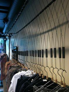 retail clothing rack at kits