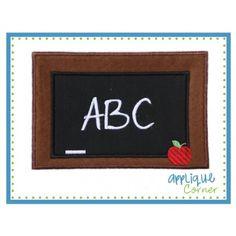 Chalkboard Applique Design