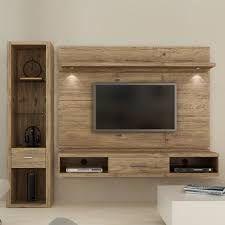 Bilderesultat for painel de tv com rack rustico