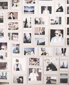 Cool Polaroid Arrangement- use instead of wallpaper (wall of photos) *picpostie