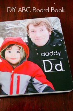 A Custom ABC Board Book is a perfect  father's day gift idea. This is definitely something my family would cherish forever.