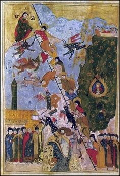 http://www.pravmir.com/icons-of-mt-sinai/ icons of Mt. Sinai Greek Orthodox, this one showing the influence in style of the Islamic miniatures.