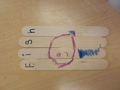 Puzzles: Popsicle sticks.  I write the word on the top and then they draw it underneath (i use masking tape to hold it together).  They really learn how to spell the word!  Especially when you say it and write it on their sticks.