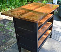 Kitchen island diy dresser buffet ideas for 2020 Dresser Kitchen Island, Antique Kitchen Island, Kitchen Island Table, Vintage Kitchen, Kitchen Islands, Rustic Kitchen, Refurbished Furniture, Repurposed Furniture, Furniture Makeover