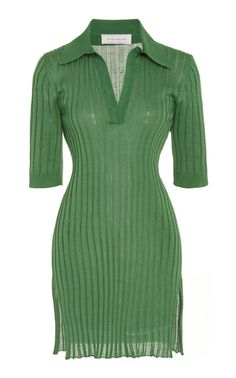 Marina Moscone Rib-Knit Cotton And Silk-Blend Top Look Fashion, Runway Fashion, High Fashion, Fashion Outfits, Womens Fashion, Fashion Design, Pretty Outfits, Cool Outfits, Looks Style