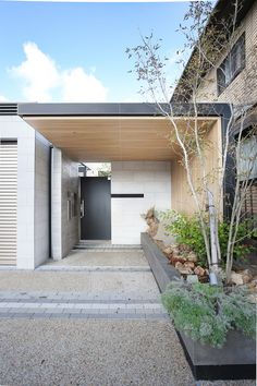 Villa Design, Gate Design, Facade Design, Door Design, House Design, Entrance Ways, Entrance Design, House Entrance, Minimal Architecture