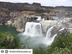 #Repost @thetimidtravelerus (via @repostapp)   OMG beautiful  | Shoshone Falls Idaho #liveeverywhere #fulltimefamily #explore #adventure #idaho #waterfalls