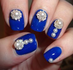 """Wendy's Delights: Beauties Factory UK """"White Pearl Diamond"""" 3D DIY Alloy Nail Decorations"""