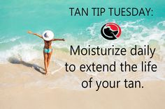 TAN TIP TUESDAY : Moisturize daily to extend the life of your tan! #DarqueTan