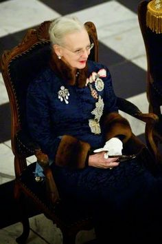 Queen Magrethe II received the chiefs of the Diplomatic Corps in the Rider's Hall during the New Year's Court in Christiansborg Palace, 06.01.2015.