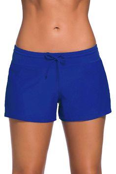 Satinior Women Swimsuit Shorts Tankini Swim Briefs Side Split Plus Size Bottom Boardshort Summer Beach Swimwear Trunks - Royal Blue XX-Large Plus Size Swimsuits, Women Swimsuits, Fashion Swimsuits, Bleu Royal, Royal Blue, Navy Blue, Purple Gray, Swim Shorts Women, Boy Shorts