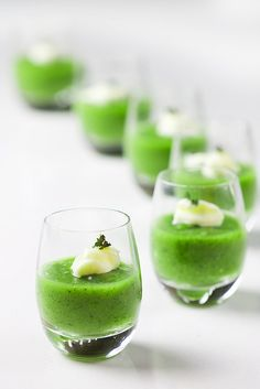 zucchini puree with mayo and dried coriander