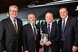 Ken Rosewall, Rod Laver and John Newcombe