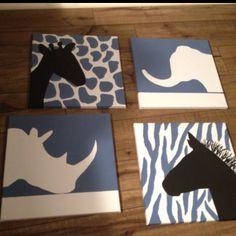 Safari art I made for my sons nursery!!!