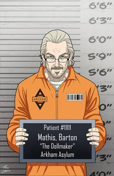 Barton Mathis commission by phil-cho on DeviantArt Comic Villains, Dc Comics Characters, Gotham Villains, Superhero Characters, Batman Cast, Dc Comics Action Figures, Arkham Asylum, Joker And Harley, Detective Comics