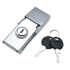 Box lock with keys for distribution panel