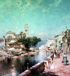 Le Canal Tolentini - (Franz Richard Unterberger)