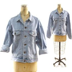 80s Bleached Out Levi's Denim Jacket by nickiefrye on Etsy, $65.00