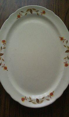 Vintage Serving Platter Marked on Back Superior Hall by AntHunnys, $19.00