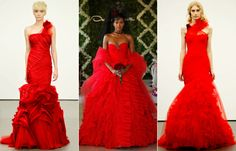 #OscardelaRenta and #VeraWang showed red dresses on their bridal runways. Would you wear a ruby wedding gown? http://news.instyle.com/2012/04/17/popular-bridal-look-red-wedding-dresses/