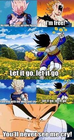 ea538a14d9e2929e82dd61878dd62a20 let it go dbz vegeta it's under 9000!!! hey what does your scouter say? damn it! what