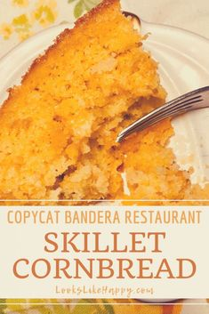 Skillet Cornbread with Chili Peppers and Cheese - Perfect with Chili, Fried Chicken or your favorite Southern dish! Cornbread - Skillet Cornbread - Copycat Recipes - Southern Cooking - Comfort Food - Bandera Restaurant - Cornbread with Chiles - Side Dish