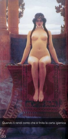 "John William Godward . "" L'oracolo di Delfi """