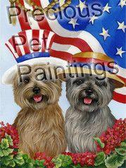 Cairn Terrier USA flag
