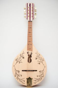 stag's head flat top/back mandolin - this is lovely!