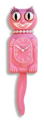 Pink Miss Kitty-Cat Clock