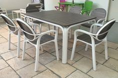 Nardi Alloro 7 Piece Dining Setting with Extendible