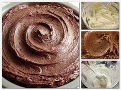 For those who love chocolate. The testy and healthy idea for Chocolate cheese cake. Nutella Cream Cheese, Cream Cheese Buttercream, Buttercream Frosting, Icing Recipe, Frosting Recipes, Chocolate Cheesecake, Chocolate Fudge, Chocolate Chips, Bolo Ferrero Rocher