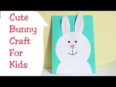 Simple and Easy Paper Bunny craft/ Easter Bunny making For kids/Cute Bunny Rabbit/Kids project ideas Easy Crafts For Kids, Projects For Kids, Project Ideas, Bunny Crafts, Easter Crafts, Cute Bunny, Bunny Rabbit, Paper Bunny, Simple