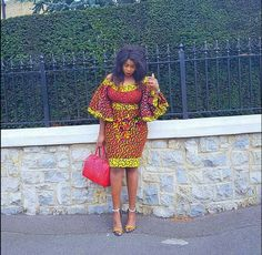 If you feel you have exhausted all the styles you can think of, flared Ankara sleeves will prove you wrong. A flared sleeve can either be short or long in l African Dresses For Women, African Print Dresses, African Print Fashion, Africa Fashion, African Attire, African Wear, African Fashion Dresses, African Women, Fashion Prints