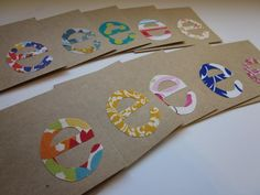 Easy initial notecards to make for a quick personalized gift.
