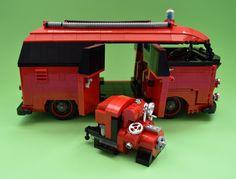 vw splitscreen barndoor fire engine with a 25bhp vw powered ziegler water pump | by redfern1950s