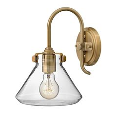 This Elstead Congress Fluted Clear Glass Wall Light in Brushed Caramel is a traditional design that combines both modern and historical elements and with its vintage accents it is